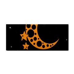 Moon Star Space Orange Black Light Night Circle Polka Cosmetic Storage Cases by Mariart