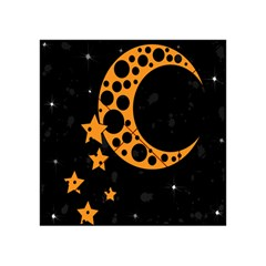 Moon Star Space Orange Black Light Night Circle Polka Acrylic Tangram Puzzle (4  X 4 ) by Mariart