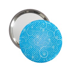 Leaf Blue Snow Circle Polka Star 2 25  Handbag Mirrors by Mariart