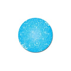 Leaf Blue Snow Circle Polka Star Golf Ball Marker by Mariart