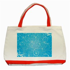 Leaf Blue Snow Circle Polka Star Classic Tote Bag (red) by Mariart