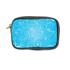 Leaf Blue Snow Circle Polka Star Coin Purse by Mariart