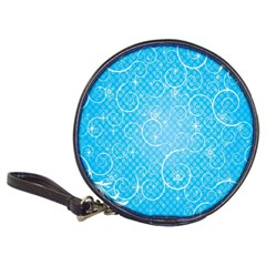 Leaf Blue Snow Circle Polka Star Classic 20 Cd Wallets by Mariart