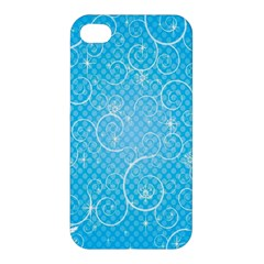 Leaf Blue Snow Circle Polka Star Apple Iphone 4/4s Hardshell Case by Mariart