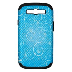Leaf Blue Snow Circle Polka Star Samsung Galaxy S Iii Hardshell Case (pc+silicone) by Mariart