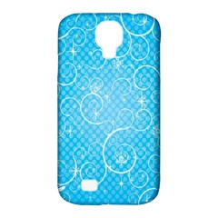Leaf Blue Snow Circle Polka Star Samsung Galaxy S4 Classic Hardshell Case (pc+silicone) by Mariart
