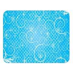 Leaf Blue Snow Circle Polka Star Double Sided Flano Blanket (large)  by Mariart