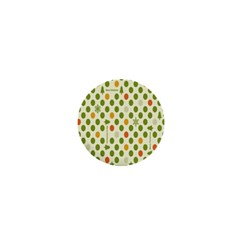 Merry Christmas Polka Dot Circle Snow Tree Green Orange Red Gray 1  Mini Buttons by Mariart
