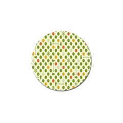 Merry Christmas Polka Dot Circle Snow Tree Green Orange Red Gray Golf Ball Marker (4 Pack) by Mariart