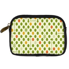 Merry Christmas Polka Dot Circle Snow Tree Green Orange Red Gray Digital Camera Cases by Mariart