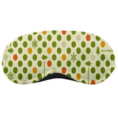Merry Christmas Polka Dot Circle Snow Tree Green Orange Red Gray Sleeping Masks by Mariart