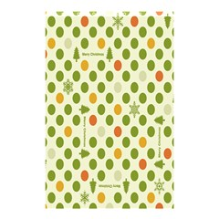 Merry Christmas Polka Dot Circle Snow Tree Green Orange Red Gray Shower Curtain 48  X 72  (small)  by Mariart