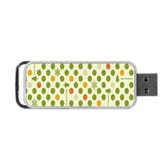 Merry Christmas Polka Dot Circle Snow Tree Green Orange Red Gray Portable Usb Flash (one Side) by Mariart