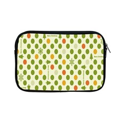 Merry Christmas Polka Dot Circle Snow Tree Green Orange Red Gray Apple Ipad Mini Zipper Cases by Mariart