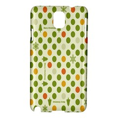 Merry Christmas Polka Dot Circle Snow Tree Green Orange Red Gray Samsung Galaxy Note 3 N9005 Hardshell Case by Mariart