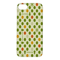 Merry Christmas Polka Dot Circle Snow Tree Green Orange Red Gray Apple iPhone 5S/ SE Hardshell Case