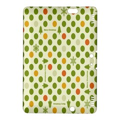 Merry Christmas Polka Dot Circle Snow Tree Green Orange Red Gray Kindle Fire Hdx 8 9  Hardshell Case by Mariart