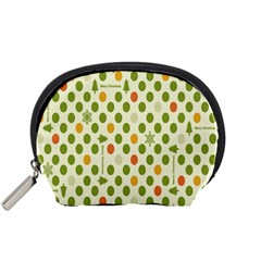 Merry Christmas Polka Dot Circle Snow Tree Green Orange Red Gray Accessory Pouches (small)