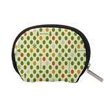 Merry Christmas Polka Dot Circle Snow Tree Green Orange Red Gray Accessory Pouches (Small)  Back
