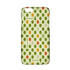 Merry Christmas Polka Dot Circle Snow Tree Green Orange Red Gray Apple Iphone 6/6s Hardshell Case by Mariart