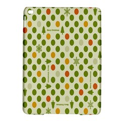 Merry Christmas Polka Dot Circle Snow Tree Green Orange Red Gray Ipad Air 2 Hardshell Cases by Mariart