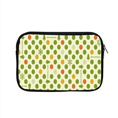 Merry Christmas Polka Dot Circle Snow Tree Green Orange Red Gray Apple Macbook Pro 15  Zipper Case by Mariart