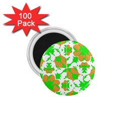 Graphic Floral Seamless Pattern Mosaic 1 75  Magnets (100 Pack)  by dflcprints