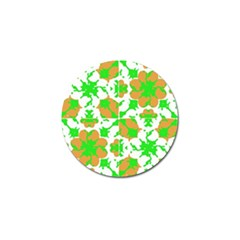 Graphic Floral Seamless Pattern Mosaic Golf Ball Marker by dflcprints