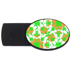Graphic Floral Seamless Pattern Mosaic Usb Flash Drive Oval (2 Gb) by dflcprints