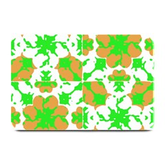 Graphic Floral Seamless Pattern Mosaic Plate Mats by dflcprints