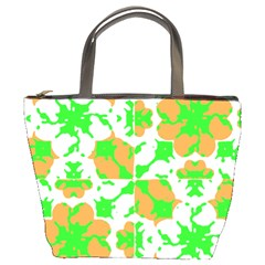 Graphic Floral Seamless Pattern Mosaic Bucket Bags by dflcprints
