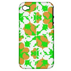 Graphic Floral Seamless Pattern Mosaic Apple Iphone 4/4s Hardshell Case (pc+silicone) by dflcprints