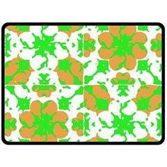 Graphic Floral Seamless Pattern Mosaic Double Sided Fleece Blanket (large)  by dflcprints