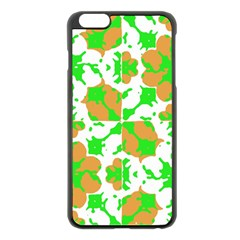Graphic Floral Seamless Pattern Mosaic Apple Iphone 6 Plus/6s Plus Black Enamel Case by dflcprints