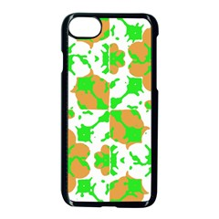 Graphic Floral Seamless Pattern Mosaic Apple Iphone 7 Seamless Case (black) by dflcprints
