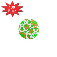 Graphic Floral Seamless Pattern Mosaic 1  Mini Magnets (100 Pack)  by dflcprints
