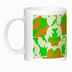 Graphic Floral Seamless Pattern Mosaic Night Luminous Mugs by dflcprints