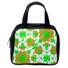Graphic Floral Seamless Pattern Mosaic Classic Handbags (one Side) by dflcprints