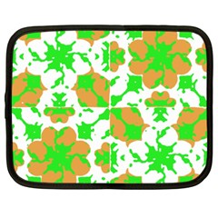Graphic Floral Seamless Pattern Mosaic Netbook Case (xxl)  by dflcprints