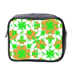 Graphic Floral Seamless Pattern Mosaic Mini Toiletries Bag 2 Side by dflcprints