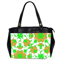 Graphic Floral Seamless Pattern Mosaic Office Handbags (2 Sides)  by dflcprints