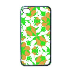 Graphic Floral Seamless Pattern Mosaic Apple Iphone 4 Case (black) by dflcprints