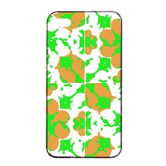 Graphic Floral Seamless Pattern Mosaic Apple Iphone 4/4s Seamless Case (black) by dflcprints