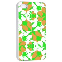 Graphic Floral Seamless Pattern Mosaic Apple Iphone 4/4s Seamless Case (white) by dflcprints