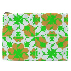 Graphic Floral Seamless Pattern Mosaic Cosmetic Bag (xxl)  by dflcprints