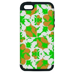 Graphic Floral Seamless Pattern Mosaic Apple Iphone 5 Hardshell Case (pc+silicone) by dflcprints