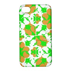 Graphic Floral Seamless Pattern Mosaic Apple Iphone 4/4s Hardshell Case With Stand by dflcprints