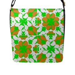 Graphic Floral Seamless Pattern Mosaic Flap Messenger Bag (l)  by dflcprints