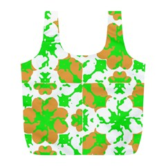 Graphic Floral Seamless Pattern Mosaic Full Print Recycle Bags (l)  by dflcprints