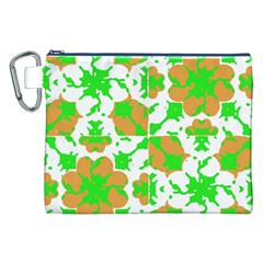Graphic Floral Seamless Pattern Mosaic Canvas Cosmetic Bag (xxl) by dflcprints